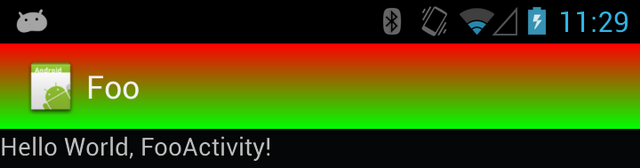 Multi-color action bar